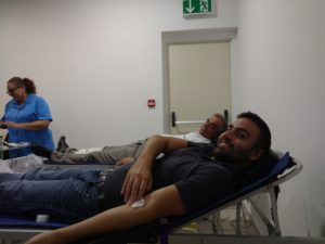 Employees Donating Blood