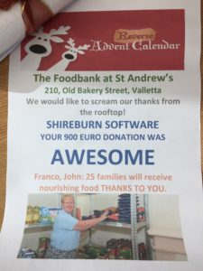 Shireburn support The Foodbank
