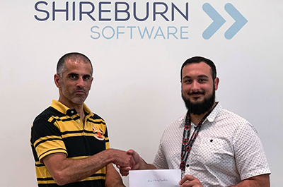 Michael Gafa', committee member of the ALIVE Charity Foundation and Kurt Debono, a member of the Shireburn Social Committee